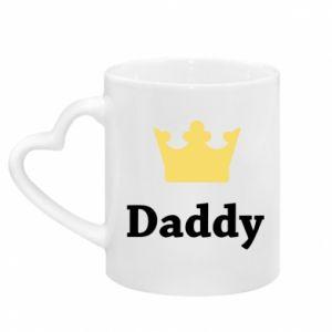 Kubek z uchwytem w kształcie serca Daddy
