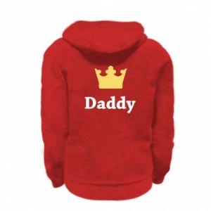Kid's zipped hoodie % print% Daddy