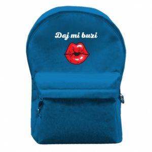 Plecak z przednią kieszenią Daj mi buzi