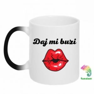 Chameleon mugs Kiss me