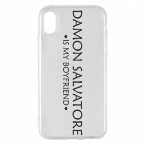 Etui na iPhone X/Xs Damon Salvatore is my boyfriend