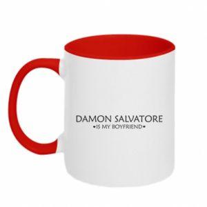 Kubek dwukolorowy Damon Salvatore is my boyfriend