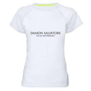 Damska koszulka sportowa Damon Salvatore is my boyfriend