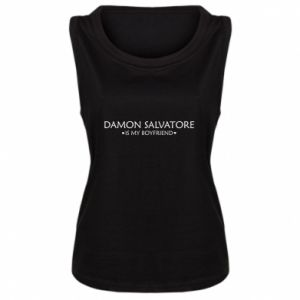 Damska koszulka bez rękawów Damon Salvatore is my boyfriend