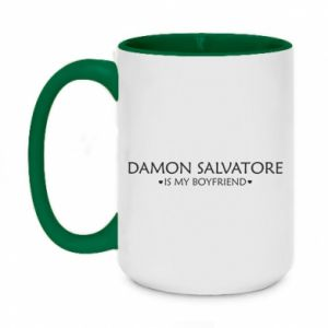 Kubek dwukolorowy 450ml Damon Salvatore is my boyfriend