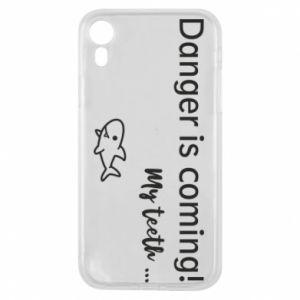 Etui na iPhone XR Danger is coming! My teeth ...