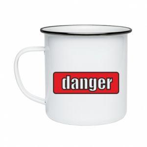 Kubek emaliowany Danger