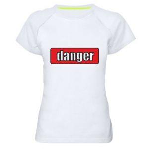 Koszulka sportowa damska Danger