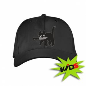 Kids' cap Dangerous cat with a knife