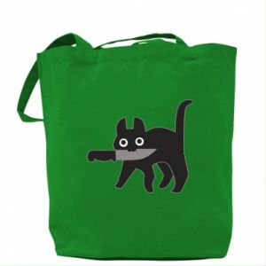 Bag Dangerous cat with a knife