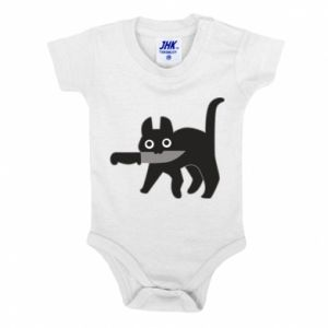Baby bodysuit Dangerous cat with a knife