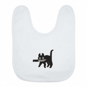 Bib Dangerous cat with a knife