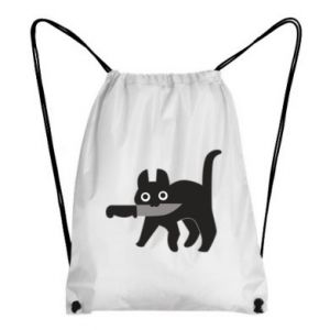 Backpack-bag Dangerous cat with a knife