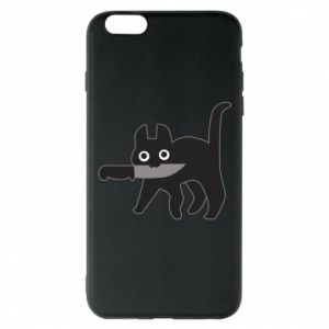 Phone case for iPhone 6 Plus/6S Plus Dangerous cat with a knife