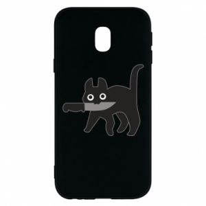 Phone case for Samsung J3 2017 Dangerous cat with a knife