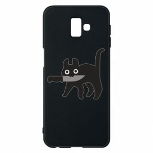 Phone case for Samsung J6 Plus 2018 Dangerous cat with a knife