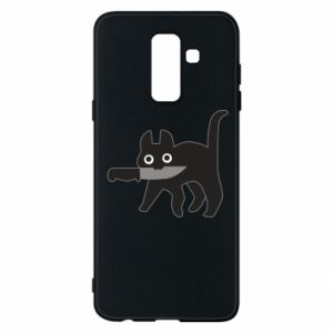 Phone case for Samsung A6+ 2018 Dangerous cat with a knife
