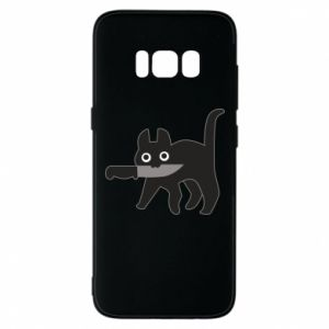Phone case for Samsung S8 Dangerous cat with a knife