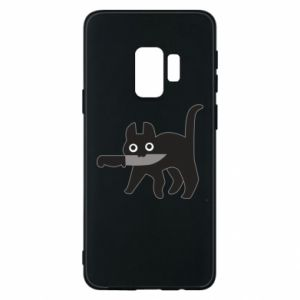 Phone case for Samsung S9 Dangerous cat with a knife