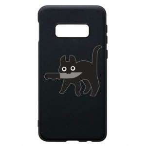 Phone case for Samsung S10e Dangerous cat with a knife