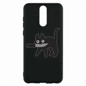 Phone case for Huawei Mate 10 Lite Dangerous cat with a knife