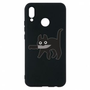 Phone case for Huawei P20 Lite Dangerous cat with a knife