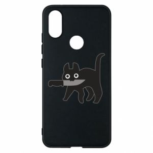 Phone case for Xiaomi Mi A2 Dangerous cat with a knife