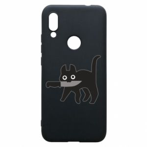 Phone case for Xiaomi Redmi 7 Dangerous cat with a knife