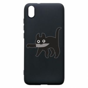 Phone case for Xiaomi Redmi 7A Dangerous cat with a knife