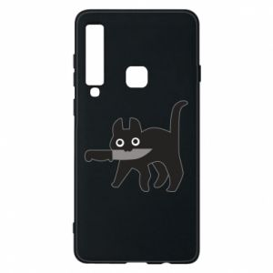 Phone case for Samsung A9 2018 Dangerous cat with a knife