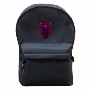 Backpack with front pocket Dark owl - PrintSalon