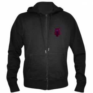 Men's zip up hoodie Dark owl - PrintSalon