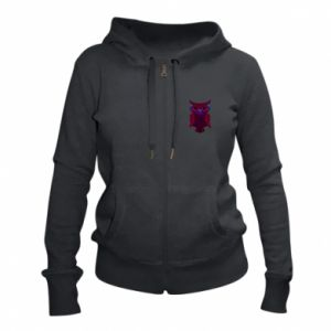 Women's zip up hoodies Dark owl - PrintSalon