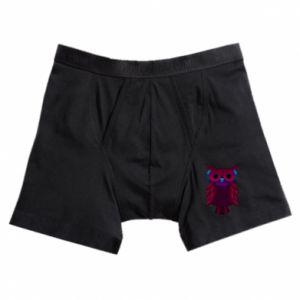 Boxer trunks Dark owl - PrintSalon