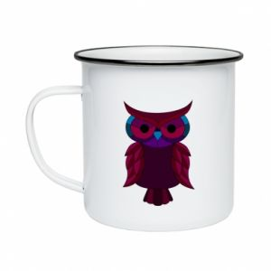 Enameled mug Dark owl - PrintSalon