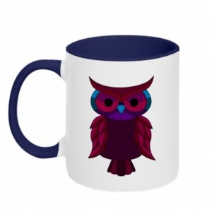 Two-toned mug Dark owl - PrintSalon
