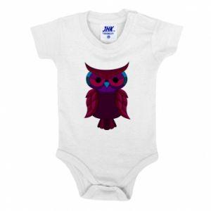 Baby bodysuit Dark owl - PrintSalon