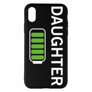 Phone case for iPhone X/Xs Daughter charge - PrintSalon