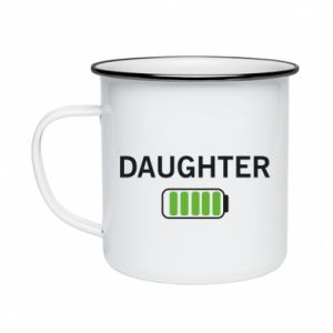 Enameled mug Daughter charge - PrintSalon