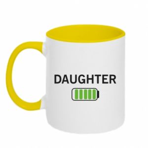 Two-toned mug Daughter charge - PrintSalon