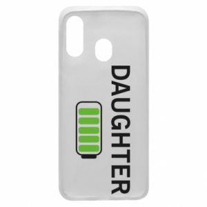 Phone case for Samsung A40 Daughter charge - PrintSalon