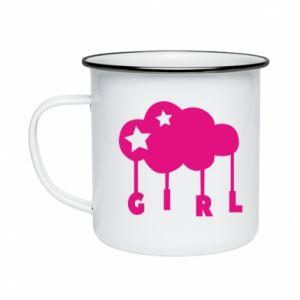Enameled mug Daughter
