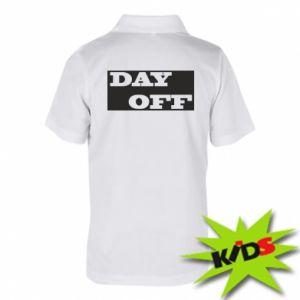 Dziecięca koszulka polo Day off