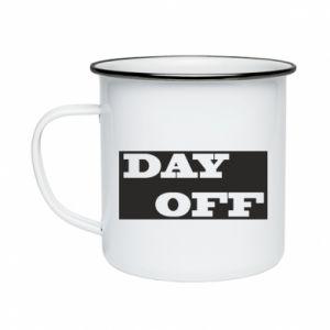 Kubek emaliowany Day off