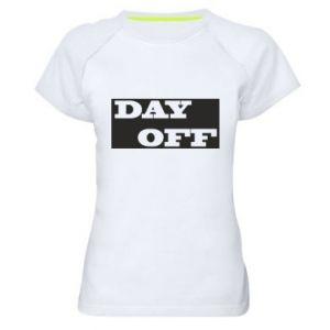 Damska koszulka sportowa Day off