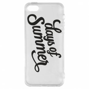 Etui na iPhone 5/5S/SE Days of summer