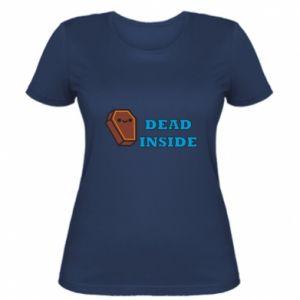 Women's t-shirt Dead inside coffin