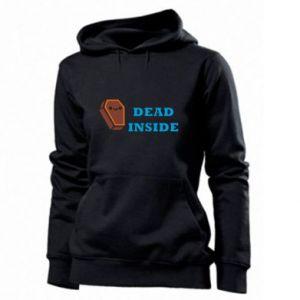 Women's hoodies Dead inside coffin