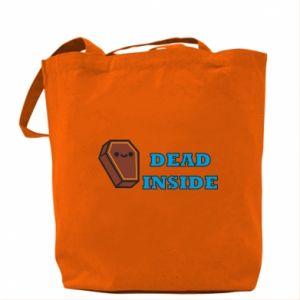 Bag Dead inside coffin