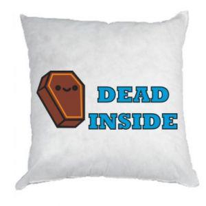 Pillow Dead inside coffin